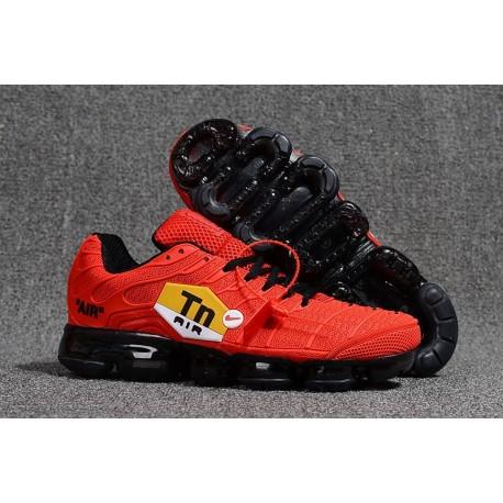 Nike Air VaporMax Plus Rouge Noir Pas Cher