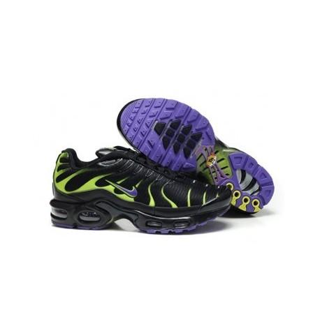 Nike TN 2019 Homme noir/vert/violet Pas Cher