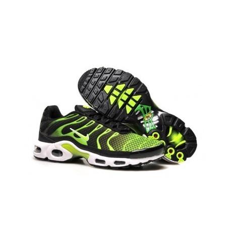 Nike TN 2019 Homme noir/vert Pas Cher