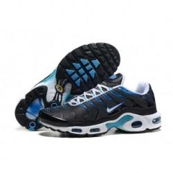 En ligne Nike Air Max TN 2018 Homme Chaussures Noir/Lake Bleu/Blanche France Pas Cher