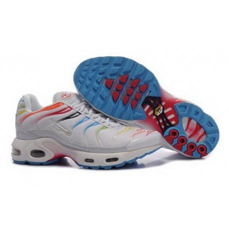 Achetez Nike Air Max TN 2018 Homme Chaussures Blanche/Multi Color France Pas Cher