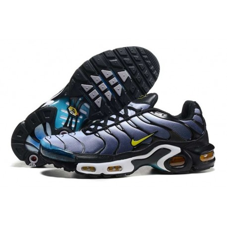 Achetez Nike Air Max TN 2018 Homme Chaussures Bleu Clair/Noir/Jaune France