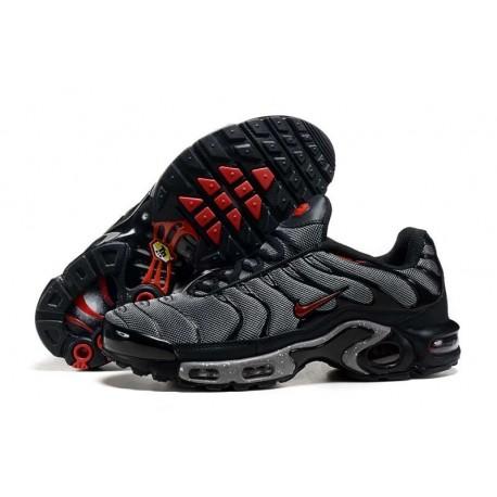 En ligne Nike Air Max TN 2018 Homme Chaussures Noir/Rouge à vendre