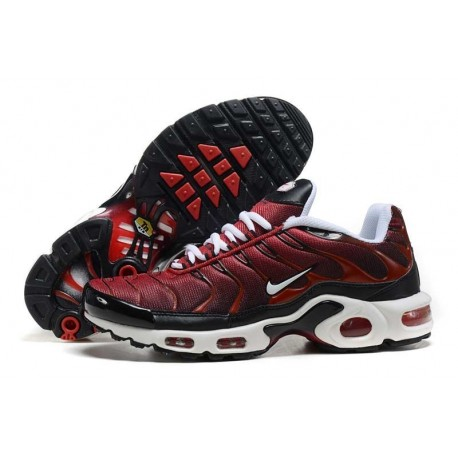 En ligne Nike Air Max TN 2018 Homme Chaussures Rouge/Blanche/Noir Pas Cher