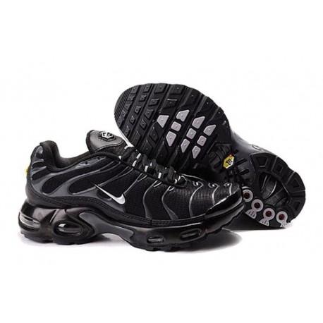 Achetez Nike Air Max TN 2018 Homme Chaussures Noir/Argent Pas Cher