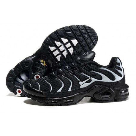 Achetez Nike Air Max TN 2018 Homme Chaussures Noir/Blanche Soldes