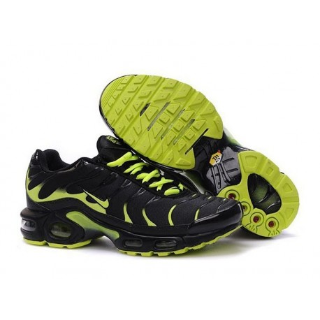 En ligne Nike Air Max TN 2018 Homme Chaussures Noir/Fluorescent Verte France Soldes