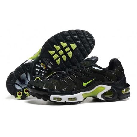 Nouveau Nike Air Max TN 2018 Homme Chaussures Noir/Fluorescent Verte Soldes Pas Cher