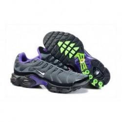 Acheter Nike Air Max TN 2018 Homme Chaussures Anthracite/Blanche/Violet/Fluorescent Verte France
