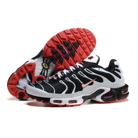 Acheter Nike Air Max TN 2018 Homme Chaussures Noir/Blanche/Rouge Soldes