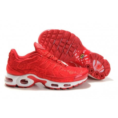 Nouveau Homme Nike Air Max TN Chaussures Rouge Blanche France Soldes