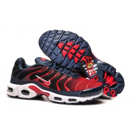 Nouveau Homme Nike Air Max TN Chaussures Marine Noir Rouge Soldes Pas Cher