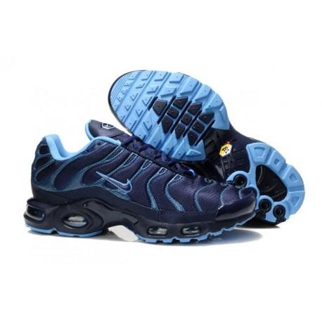 Achat Homme Nike Air Max TN Chaussures Marine Bleu Noir Soldes Pas Cher