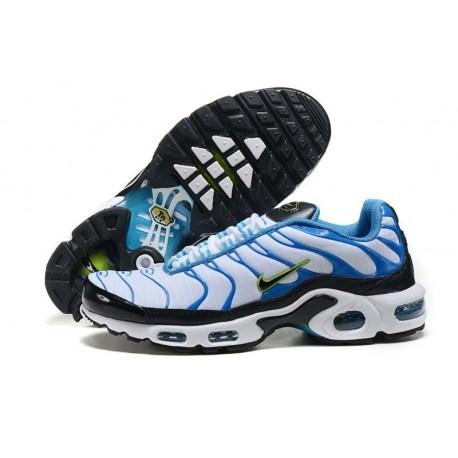 En ligne Homme Nike Air Max TN Chaussures Noir Bleu Blanche Soldes Pas Cher