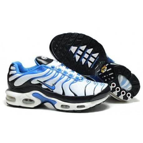 Achetez Homme Nike Air Max TN Chaussures Noir Bleu Clair Blanche France Soldes