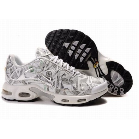 Acheter Homme Nike Air Max TN Chaussures Blanche France Pas Cher