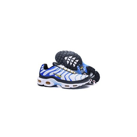 Achetez Nike Air Max TN 2018 Homme Chaussures Bleu/Blanche Moins Pas Cher