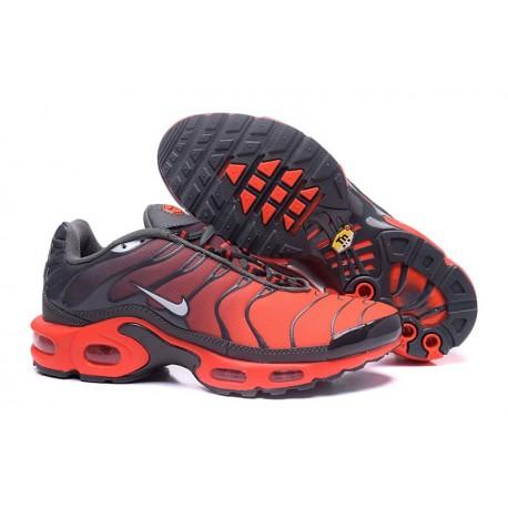Chaussures Nike Air Max TN Homme Noir/Gris/Orange/Blanc