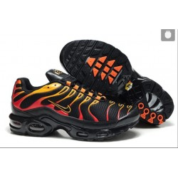 Nike Air Max TN Chaussures Hommes Noir Rouge Jaune