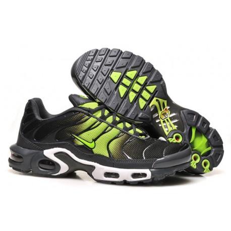 Nike Air Max TN Chaussures Hommes Noir Fluorescent Vert