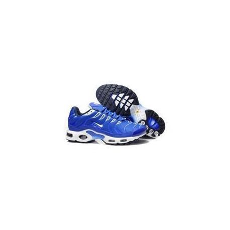 Hommes Nike Air Max TN Chaussures Bleu Blanc