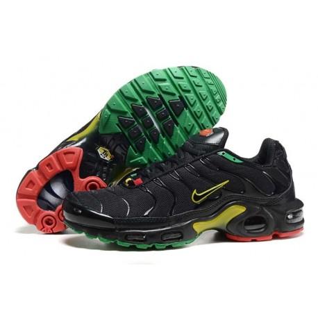 Nike Air Max TN Chaussures Hommes Noir Jaune Vert Rouge
