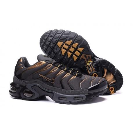 Hommes Nike Air Max TN Chaussures Coral Gris/Gold/Noir