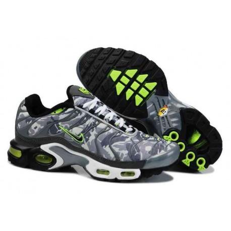 Nike Air Max TN Chaussures Hommes Gris Vert Blanc
