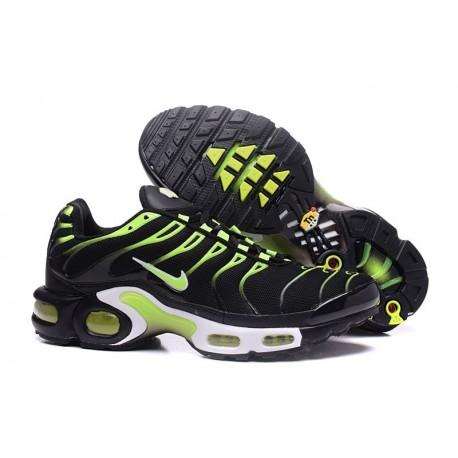 Chaussures Nike Air Max TN Homme Noir/Vert/Blanc