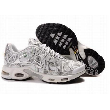Nike Air Max TN Chaussures Hommes Blanc