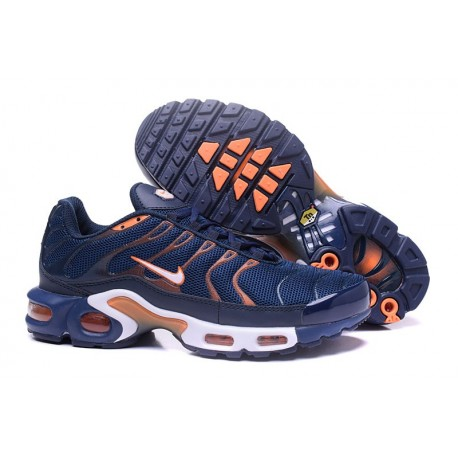 Hommes Nike Air Max TN Chaussures Marine/Or/Orange/Blanc