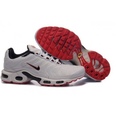 Hommes Nike Air Max TN Chaussures Blanc Rouge