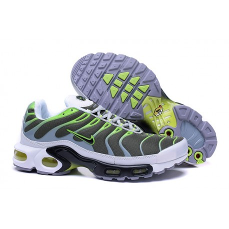Hommes Nike Air Max TN Chaussures Olive/Vert/Blanc