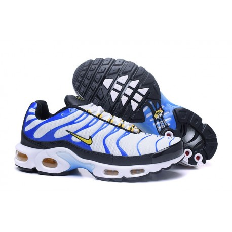 Chaussures Nike Air Max TN Homme Blanc/Bleu/Orange