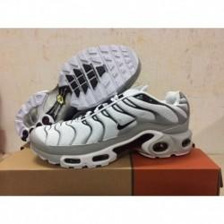 Chaussures Nike Air Max TN Homme Blanc/Gris/Noir