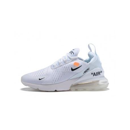 Hommes Blanc Cassé x Nike Air Max 270 Blanc Pas Cher