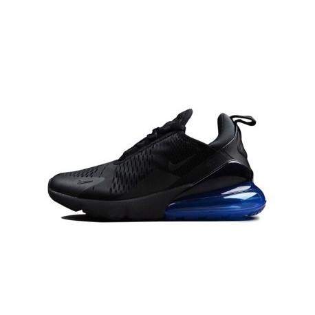 Hommes Nike Air Max 270 Noir/Bleu Pas Cher