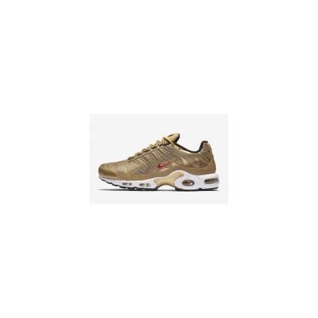 TN 2019 Homme Nike Air Max Plus Metallic Or Homme Rouge pas cher