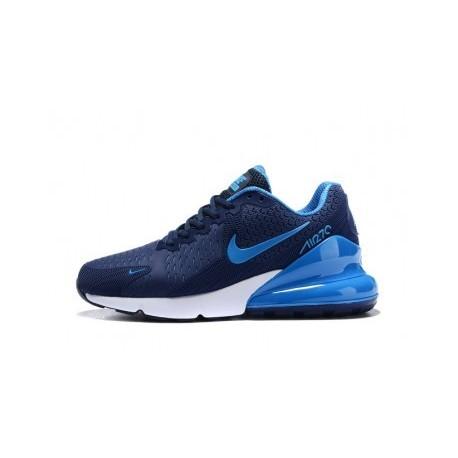 Nike Air Max 270 Blanc/Bleu Pas Cher