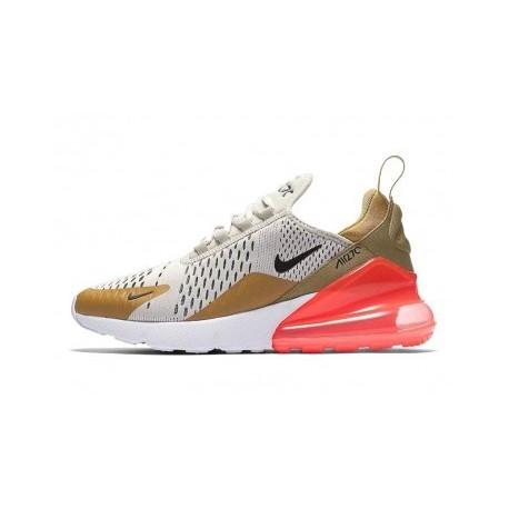 Hommes Nike Air Max 270 Marron/Gris Pas Cher