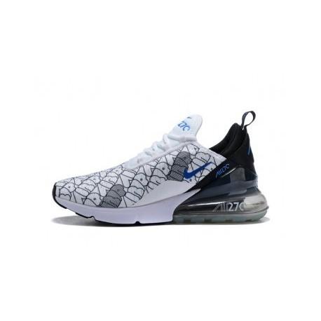 Nike Air Max 270 Blanc/Bleu/Noir Pas Cher