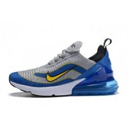 Hommes Nike Air Max 270 Gris/Bleu Pas Cher