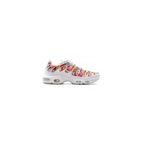 Coupe du monde de football 2018 'Drapeau international' Nike Air Max Plus Hommes, blanc, multicolore pas cher
