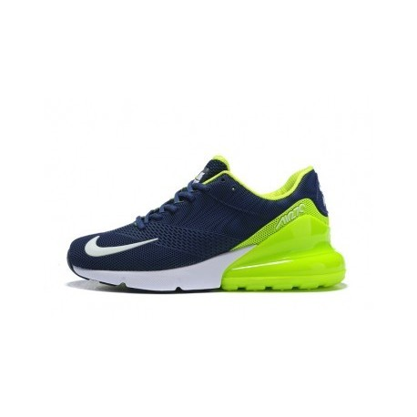 Hommes Nike Air Max 270 Bleu/Vert Pas Cher