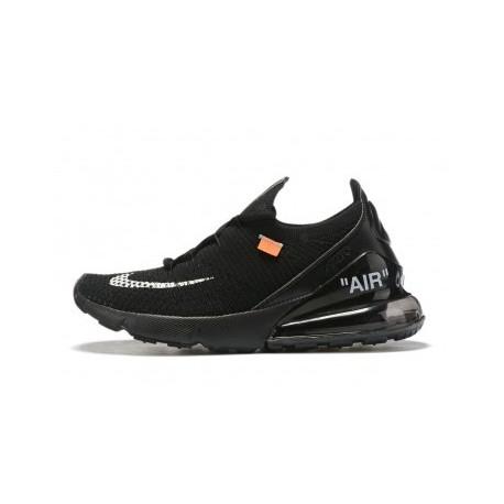 Hommes Blanc Cassé x Nike Air Max 270 Noir Pas Cher