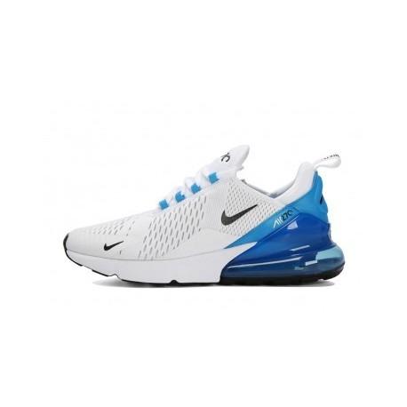 Hommes Nike Air Max 270 Bleu/Blanc Pas Cher