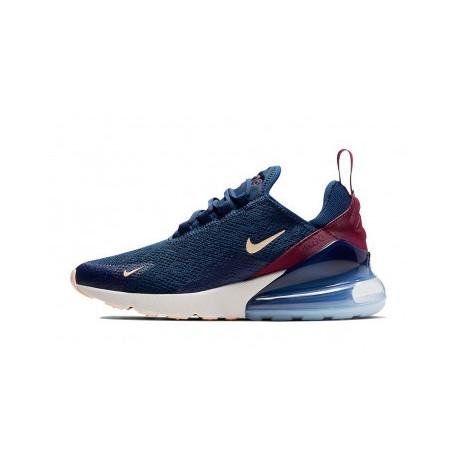 Nike Air Max 270 Bleu Hommes Pas Cher