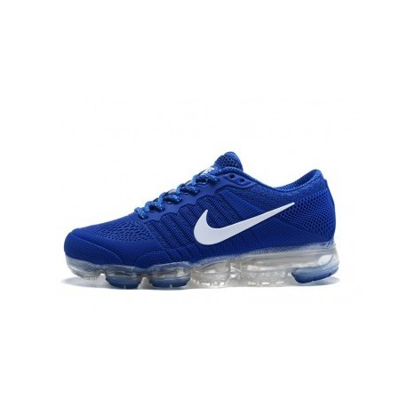 Homme Nike Air Vapormax Flyknit Bleu/Blanc Pas Cher