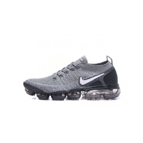 Hommes Nike Air Vapormax Flyknit 2.0 Gris Pas Cher