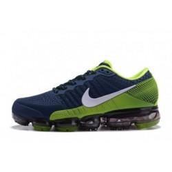 Homme Nike Air Vapormax Flyknit Bleu/Vert Pas Cher